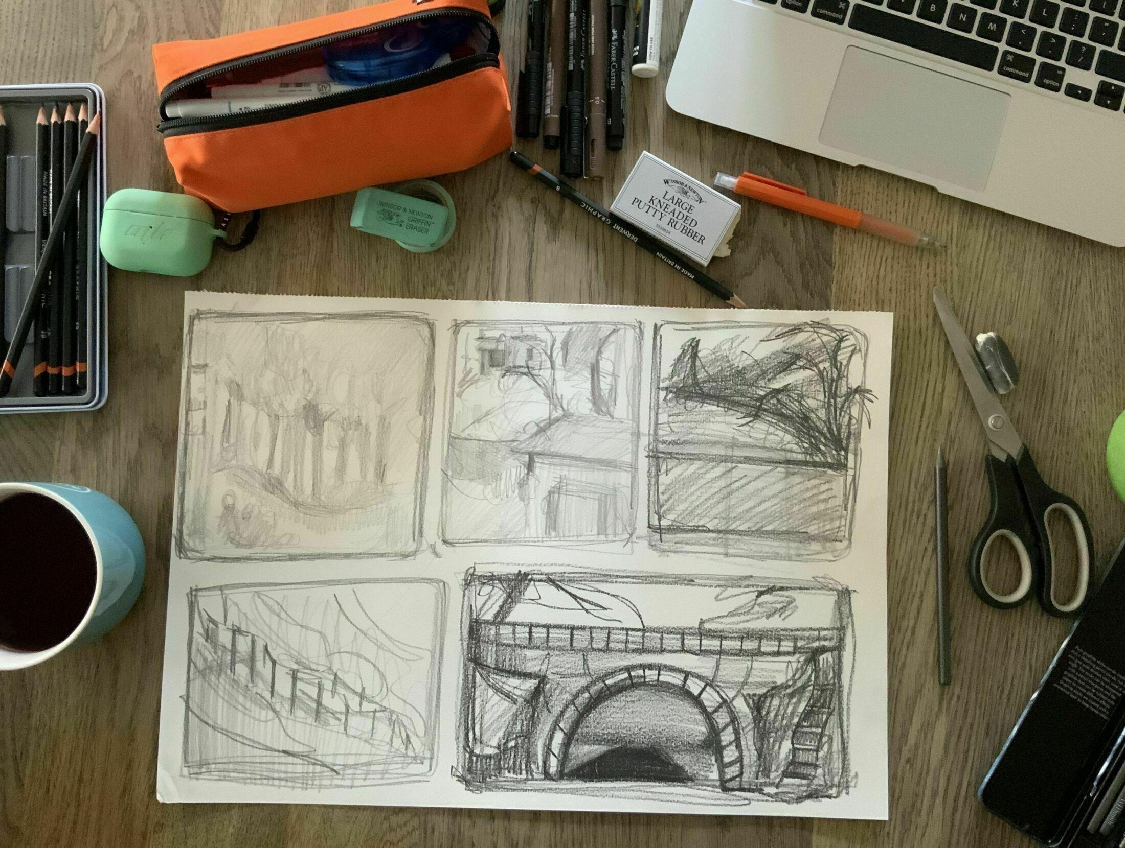 Drawing and photograph Mia Kaye