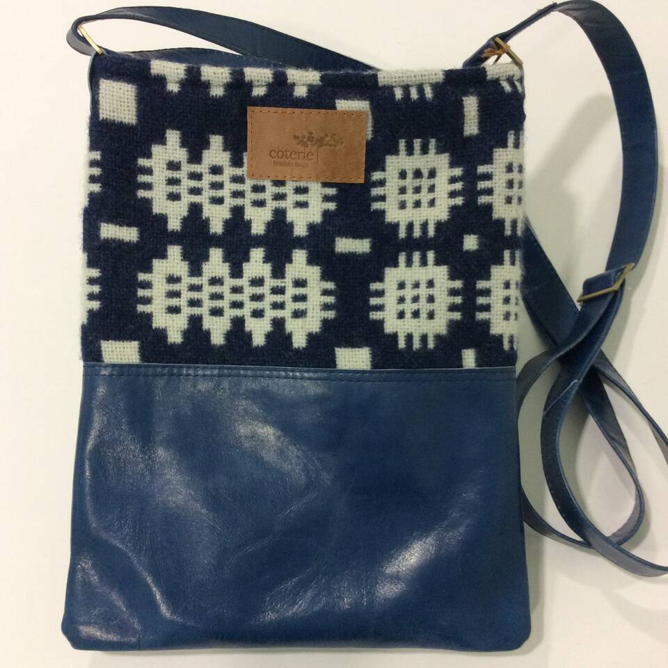 Welsh Wool and Leather Bag